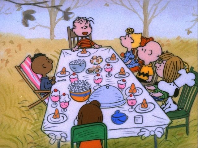 "A CHARLIE BROWN THANKSGIVING - The ABC Television Network will celebrate the start of the holiday season with the classic special, ""A Charlie Brown Thanksgiving,"" MONDAY, NOVEMBER 25 and THURSDAY, NOVEMBER 27 (8:00-8:30 p.m., ET), on the ABC Television Network. In the 1973 special ""A Charlie Brown Thanksgiving,"" Charlie Brown wants to do something special for the gang. However the dinner he arranges is a disaster when caterers Snoopy and Woodstock prepare toast and popcorn as the main dish. Humiliated, it will take all of Marcie's persuasive powers to salvage the holiday for Charlie Brown. (©1973 United Feature Syndicate Inc.)"